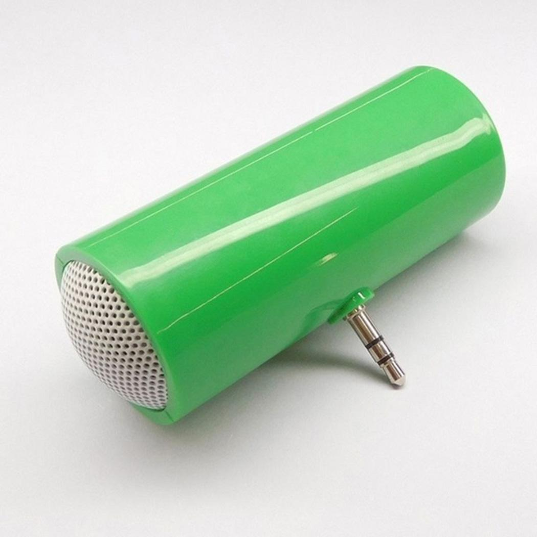 3.5mm Plug Mini Portable Outdoor Stereo USB Interface HD Phone Speaker##